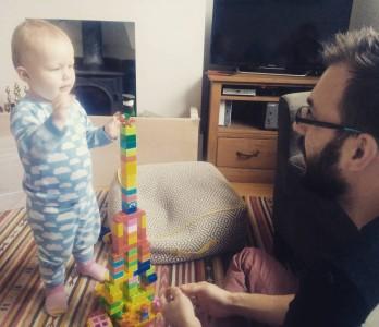 Sunday mornings are for building awesome towers kayagrace duplo daddyhasthemostfun