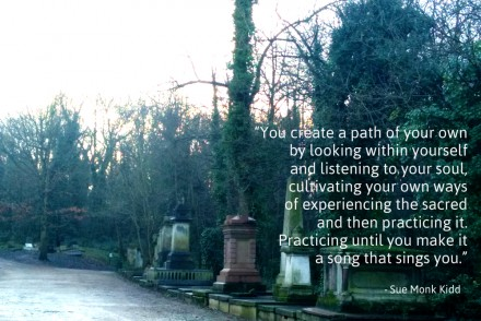 Spiritual Practice quote from Sue Monk Kidd